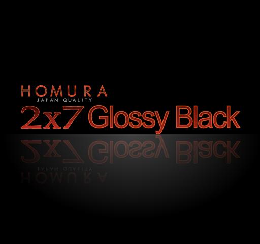 2X7 GLOSSY BLACK